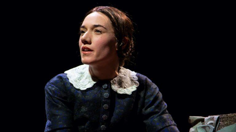 Helen Sadler performs as Jane Eyre at the Hartford stage.